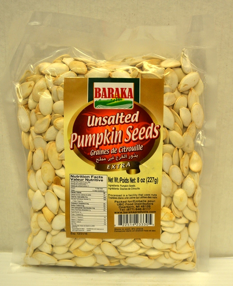 Baraka Unsalted Pumpkin Seeds
