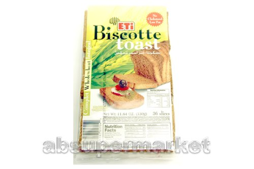 Eti Biscotte Toast Whole Wheat