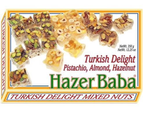 HazerBaba Turkish Delight Pistachio Almond Hazelnut