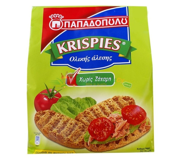 Papadopoulos Krispies Wholegrain Toasted Rolls No Sugar Added
