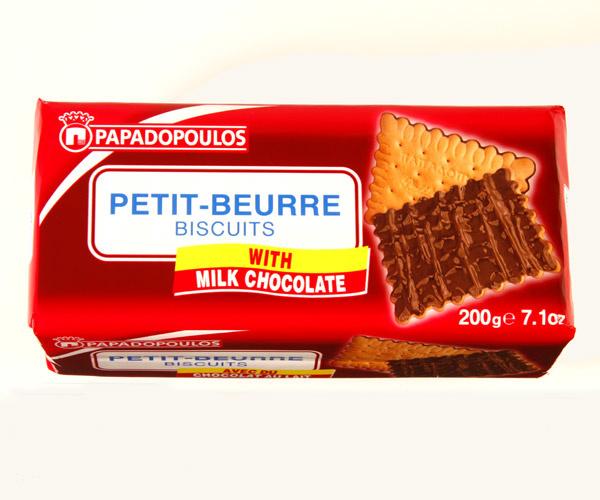 Papadopoulos Petit Beurre with Milk Chocolate