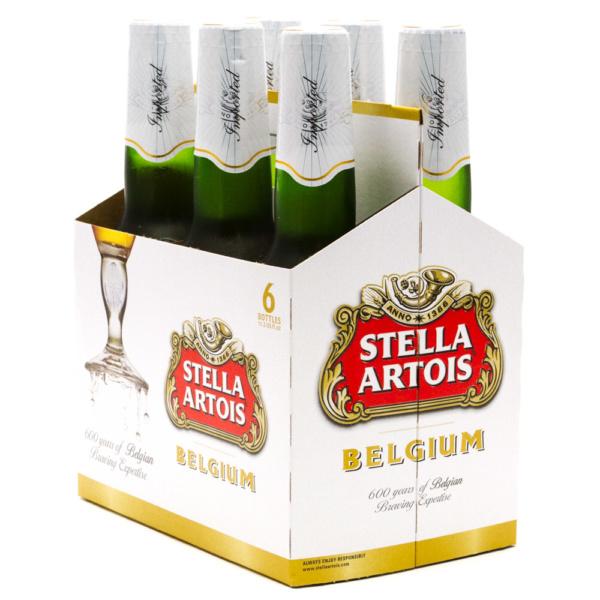 Stella Artois Belgium 6x 12oz Bottles