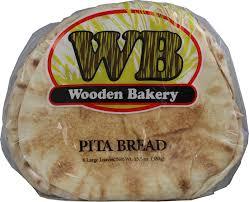 Wooden Bakery Pita Bread