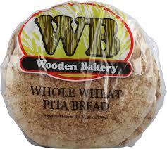 Wooden Bakery Whole Wheat Pita Bread