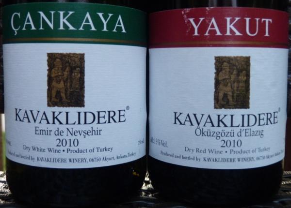 Turkish Wines Cankaya & Yakut